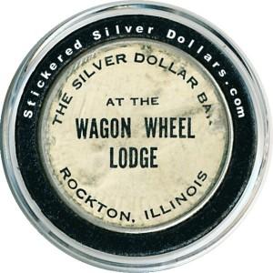 The Silver Dollar Bar at the Wagon Wheel Lodge Rockton, Illinois