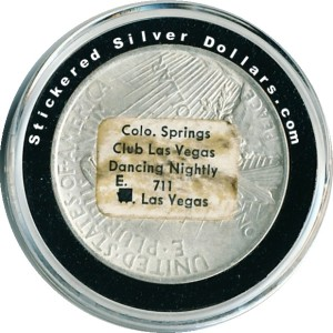 Colo. Springs Club Las Vegas Dancing Nightly E. 711 Las Vegas Sticker Dollar
