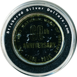 National Bank of Wibaux Canadian Stickered Silver Dollar